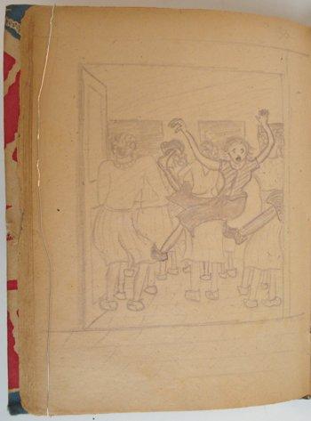 Foto: Tekening uit het originel liedschriftje van Gisela Wieberdink-Söhnlein